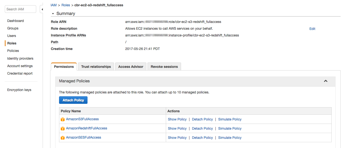 Attach IAM Role to EC2 and Redshift Cluster - CloudBasic