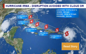 Hurricane Irma Disruption Avoided with Cloud DR